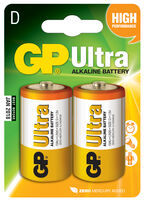D/LR20- Ultra Alkaline Batteri 2 stk.