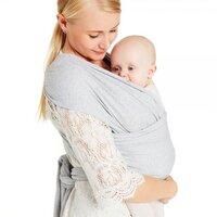 Baby wrap,  pale greymarl