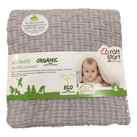 Økologisk tæppe, grå