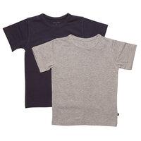 2 Pak Basic T-Shirts - Navy 778