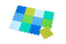 Legegulv blå/grøn
