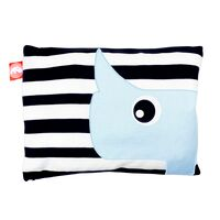 Cushion, blue/black & white
