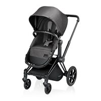 Priam 2-in-1 Manhattan Grey + Sort Stel