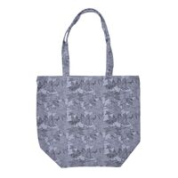 Net Leaf Print - Blue