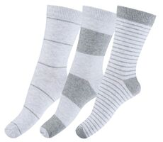 3-Pak Sokker Med Striber - Grå 130