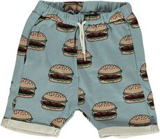 Shorts Med Burgerprint - Stone Blue/708