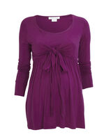 Top med bindesløjfe, Purple