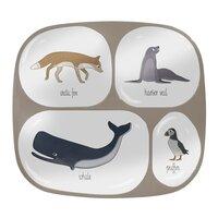 Melamintallerken 4 rum - Arctic Animals