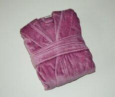 Badekåbe I Velour 6 år Lavendel