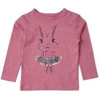 T-Shirt m. Kanin - Hindbær/311