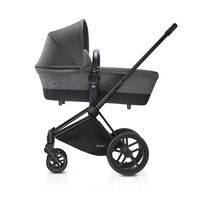Priam Babylift Manhattan Grey + All Terrain Mat Black Stel
