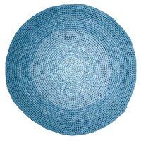 Hæklet Gulvtæppe - Gradient Blue