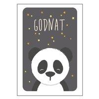 Panda Plakat - 21x30 Cm