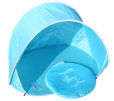 Pop up telt/læsejl blå
