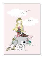 Kort - Den Lille Havfrue - A6 - Rosa