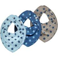 3 Pak Tørklæde-Smæk - Blå Stjerne 721