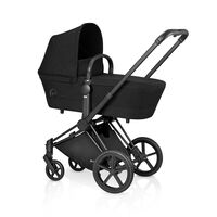Priam Babylift Stardust Black + All Terrain Mat Black Stel