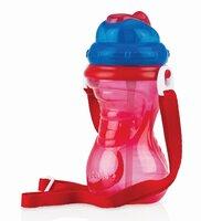 Drikkeflaske Med Strop - rød/blå