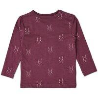 T-Shirt m. Kanin - Lilla/330