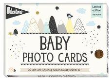 Milestone Baby Fotokort - På Dansk