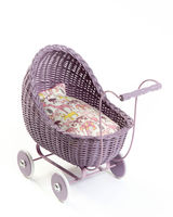 Doll stroller, dark rose