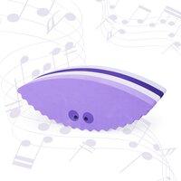 Seashell multi purple