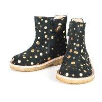 Chelsea Støvle - Black Gold Dot