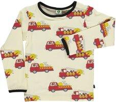 Langærmet T-Shirt Brandbil - Cream-199