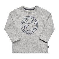 Langærmet T-Shirt Med Print - 1221