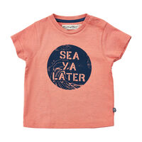 Kortærmet T-Shirt Med Tekst Print - 5340