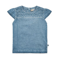 T-Shirt Med Broderi Anglaise - 7355