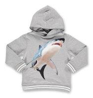 Sweatshirt Med Hætte - Grey Melange