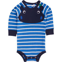 Hippo Stripe Body - Blue/Cream