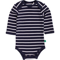 Stripe Langærmet Body - Navy/Cream