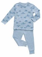 Pyjamas Mønstret - 744 L.Blå