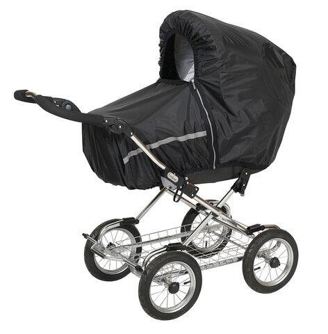 Regnslag Til Barnevogn Sort Babysamdk