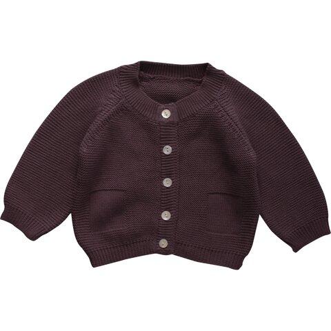 b74420c54 Strikket Cardigan Baby - Violet - Babysam.dk