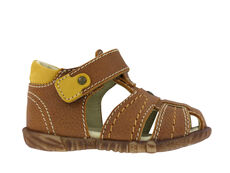 Begynder sandal med lukket tå - COGNAC