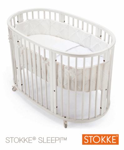 babysam seng Stokke® Sleepi™ Seng + Madras   White   Babysam.dk babysam seng