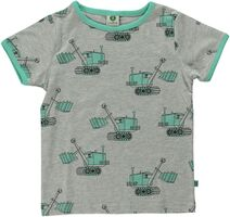 T-shirt Kortærmet Maskiner - GREY-236