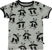 T-shirt Kortærmet Panda - GREY-236