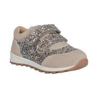 Sko Velcro Glitter - Sand