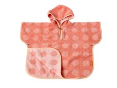 Leander® Matty poncho i frotté - Coral/Pink