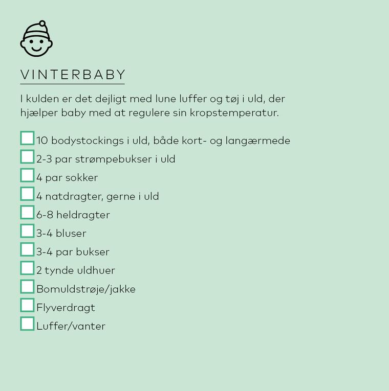 liste til baby