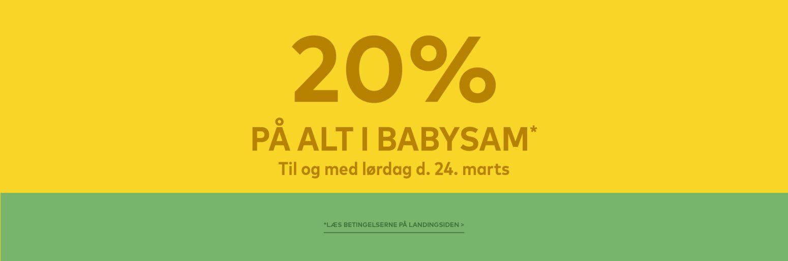 Spar 20% på hele BabySam