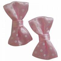 2 Stk Baby Sløjfer Med Velcro Fra Lollipop - Flere Varianter