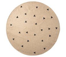 Jute tæppe - Sorte trekanter