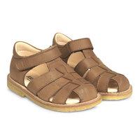 Sandal m. lukket tå og velcro - 1589
