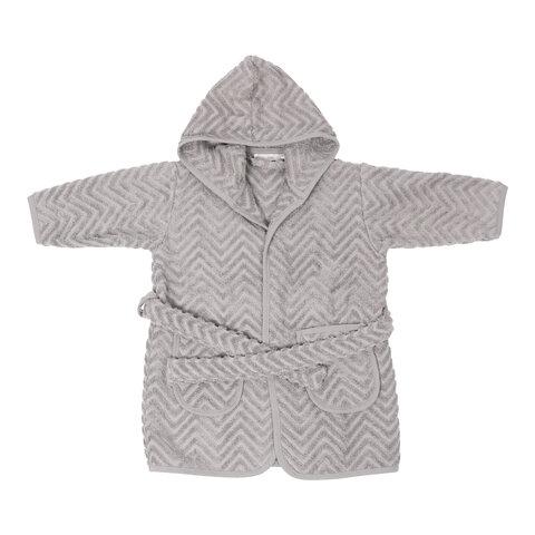 Badekåbe Zigzag Grey Babysamdk