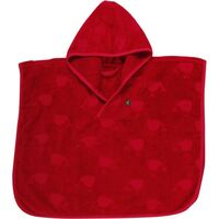 Håndklæde Poncho - Red